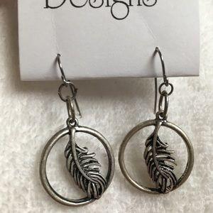 Feather Western earrings